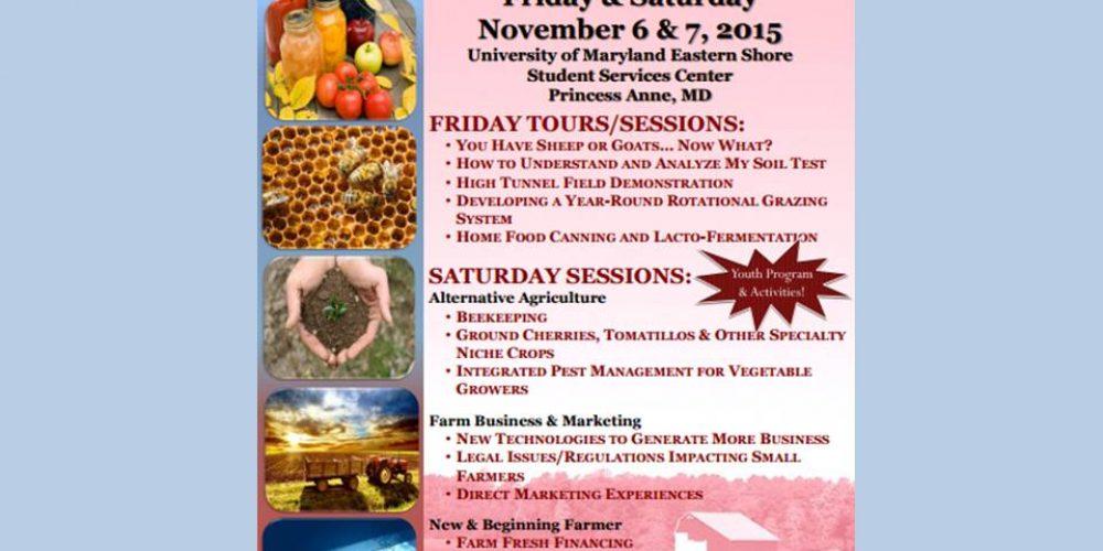 Small Farm Conference 11/6 & 11/7